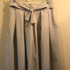 Gray a-line midi skirt
